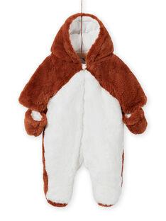 Macacão bicolor padrão raposa recém-nascido unissexo MOU1PIL2 / 21WF0542PILI810