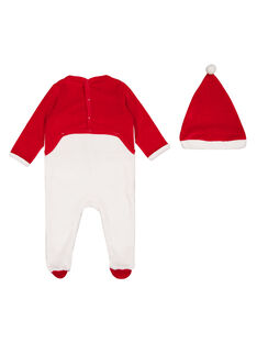 Babygro de Natal com gorro de veludo menino GEGAGRENO / 19WH14T2GRE000