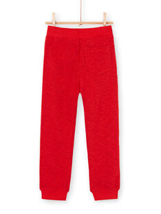 Calças de fato de treino vermelho mesclado criança menino LOVIJOG / 21S902U1JGBF520