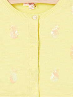 Casaco de malha mangas compridas com ananases em lantejoulas bordados LAJAUCAR1 / 21S901O2CAR116
