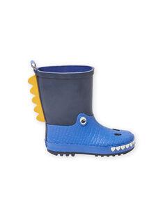 Galochas azul-marinho com padrão de dragão menino MOPLUIDRAGO / 21XK3612D0C070