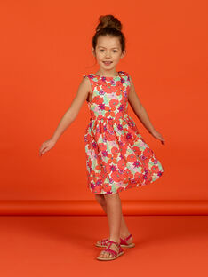Vestido sem mangas estampado florido menina LAVIROB1 / 21S901U1ROB000