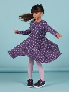 Vestido estilo patinadora com estampado florido menina MAPLAROB3 / 21W901O3ROBC202