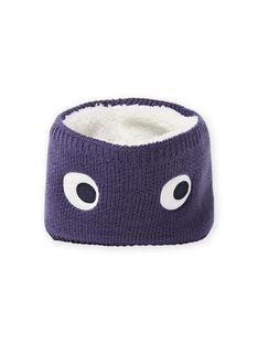 Snood de malha azul noite com padrão de olhos bebé menino MYUTUSNOO / 21WI1051SNOC234