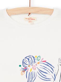 T-shirt cru e azul LANAUTI2 / 21S901P1TMC001