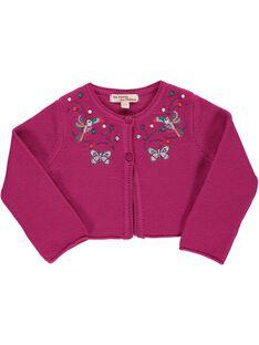 Baby girls' cropped cardigan CIGAUCAR / 18SG09L1CAR304