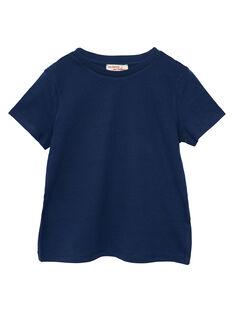 T-shirt mangas curtas menino liso azul-marinho JOESTI2 / 20S90261D31070