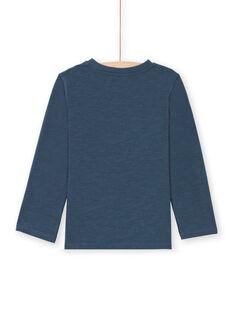 T-shirt azul-marinho menino MOCOTEE3 / 21W902L2TMLC202