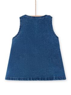 Vestido jardineiras em ganga azul bebé menina LIHAROB2 / 21SG09X3ROBP270