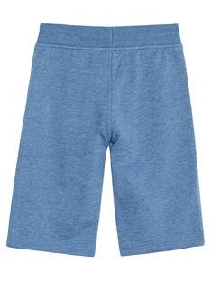 Bermudas moletão menino básico azul mesclado JOJOBER5EX / 20S90256D25C206