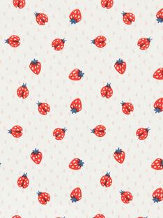 Body cru e vermelho estampado morangos em algodão bebé menino LEFIBODANI / 21SH132CBDL001