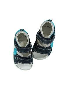 Sandálias citadinas couro bebé menino FBGSANDMA / 19SK38K4D0E070