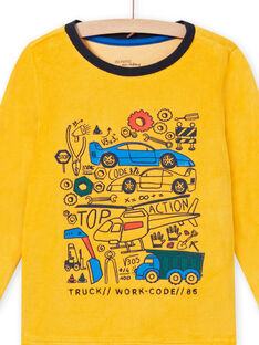 Conjunto pijama bicolor com padrão de veículos menino MEGOPYJVOI / 21WH1298PYJ113