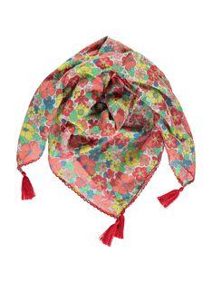 Girls' floral print scarf CYABUFOUL / 18SI01K1FOU099