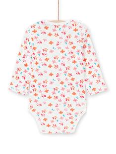Body recém-nascido menina de mangas compridas estampado florido LEFIBODBOU / 21SH1327BDL001