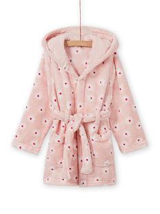 Roupão rosa estampado florido e padrão cão menina MEFAROBDOG / 21WH1181RDC307