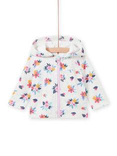 Sweat cinzento mesclado com estampado florido bebé menina MIPLAHOJOG / 21WG09O1JGHJ920