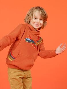 Sweat-shirt laranja com padrão de avião colorido menino MOCOSWE / 21W902L1SWE408