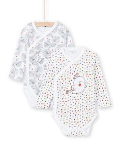 2 bodies brancos nascimento menina LOU1BOD3 / 21SF03H1BOD000