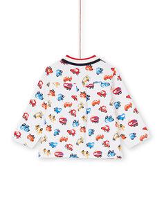 Camisa cru e vermelha estampado carro bebé menino LUHACHEM / 21SG10X1CHM001