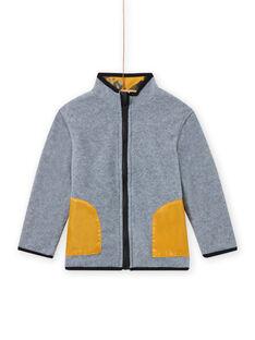Casaco de malha com fecho zip polar reversível menino MOSAUGIL / 21W902P1GILJ922