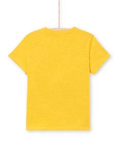 T-shirt mangas curtas amarela menino LOTERTI2 / 21S902V5TMCB114