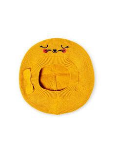 Boina amarela em malha fina bebé menina LYINAUBON / 21SI09L1BON106
