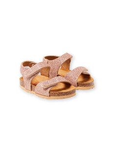 Sandálias dourado rosa bebé menina LBFNUGOLD / 21KK3757D0EK009