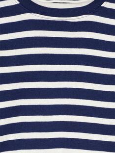 Camisola interior Azul-Marinho riscas Cru GOJOSOUP1 / 19W902L5D3B070