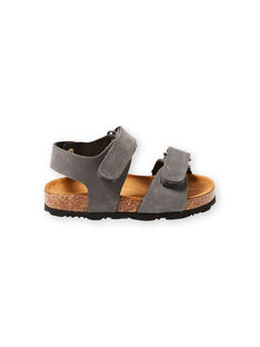 Sandálias lisas cinzento bebé menino LBGNUGRIS / 21KK3855D0E940