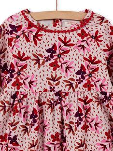 Vestido em veludo canelado com estampado florido menina MACOMROB1 / 21W901L1ROBD329