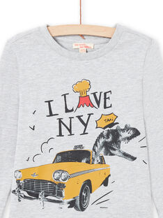 T-shirt cinzenta mesclada menino MOJOTEE2 / 21W90227TMLJ922