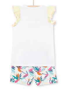 Pijama branco criança menina LEFAPYJFLY / 21SH11C7PYJ000