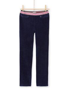 Calças milano azul-noite menina MAJOMIL2 / 21W90118PANC205