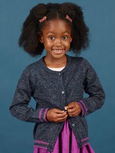 Cardigã de mangas compridas azul noite com purpurinas menina MAPACAR / 21W901H1CARC205