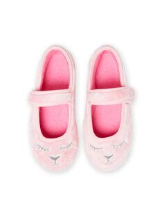 Sabrinas rosa claro em pelo sintético padrão gato menina MAPANTCATFUR / 21XK3522D07321