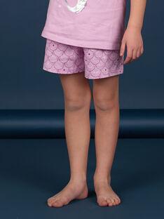 Pijama lilás menina LEFAPYJMER / 21SH11C8PYJH700