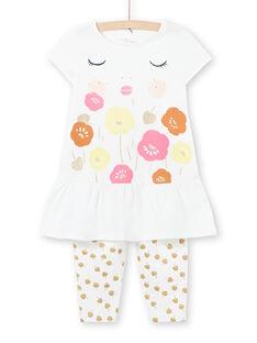 Pijama branco criança menina LEFAPYJCOU / 21SH11C5PYJ001