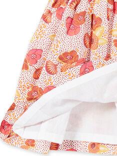 Vestido rosa, cru e amarelo com estampado florido e bolas LITERROB2 / 21SG09V1ROB001