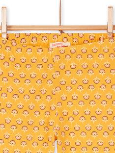 Leggings amarelas criança menina LYAPOELEG / 21SI01Y1CAL107