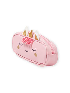 Estojo rosa com padrão unicórnio menina MYACLATROUS / 21WI01G1TRO321