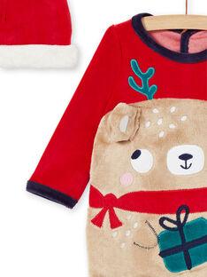 Babygro recém-nascido menino padrão urso de Natal com gorro KEGAGRENO / 20WH14R1GREF529