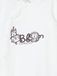 Babygro branco nascimento LOU1GRE4 / 21SF05H1GRE000