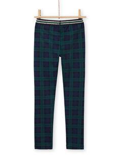 Calças milano azul e verde com estampado tartã menina MAJOMIL3 / 21W90113PANC243
