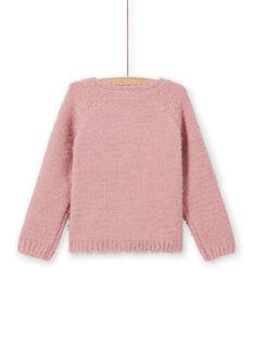 Cardigã rosa envelhecido menina MAYJOCAR2 / 21W9011ACAR303