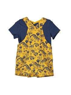 Conjunto jardineiras t-shirt bebé menino FUBAENS / 19SG1061ENS107