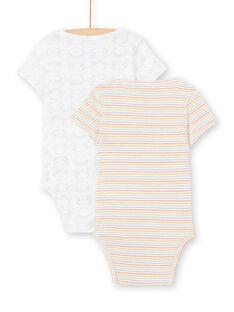 Pack de 2 bodies brancos recém-nascido unissexo LOU2BOD3 / 21SF05I1BOD000