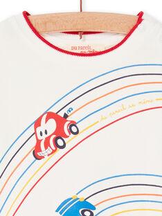 T-shirt cru e vermelha bebé menino LUHATEE1 / 21SG10X2TML001