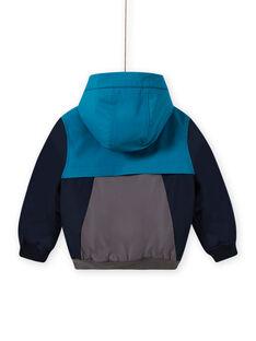 Blusão com capuz tricolor menino MOGROBLOU3 / 21W90252BLOC243