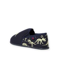 Pantufas azul-noite padrões dinossauros fosforescentes menino MOPANTDINO / 21XK3632D0B070
